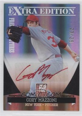 2011 Donruss Elite Extra Edition Franchise Futures Signatures Red Ink #4 - Cory Mazzoni /25