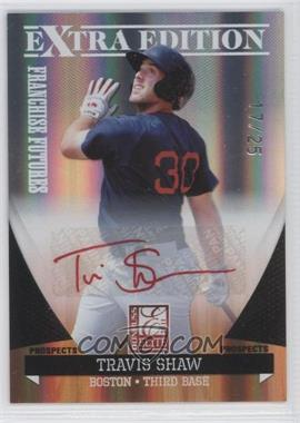 2011 Donruss Elite Extra Edition Franchise Futures Signatures Red Ink #78 - Travis Shaw /25