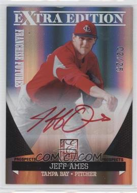 2011 Donruss Elite Extra Edition Franchise Futures Signatures Red Ink #9 - Jeff Ames /25