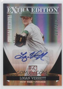 2011 Donruss Elite Extra Edition Franchise Futures Signatures #43 - Logan Verrett /137