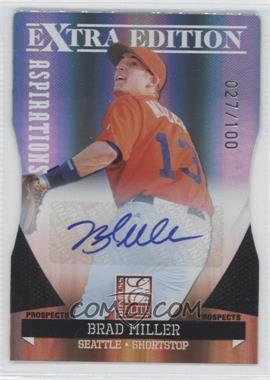 2011 Donruss Elite Extra Edition Prospects Aspirations Die-Cut Signatures [Autographed] #15 - Brad Miller /100