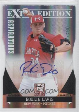 2011 Donruss Elite Extra Edition Prospects Aspirations Die-Cut Signatures [Autographed] #153 - Rookie Davis /100