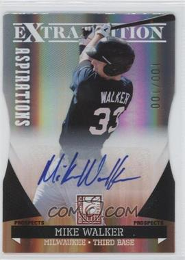 2011 Donruss Elite Extra Edition Prospects Aspirations Die-Cut Signatures [Autographed] #179 - Mike Walker /100