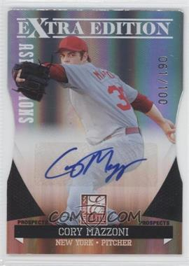 2011 Donruss Elite Extra Edition Prospects Aspirations Die-Cut Signatures [Autographed] #4 - Cory Mazzoni /100