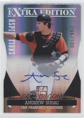 2011 Donruss Elite Extra Edition Prospects Aspirations Die-Cut Signatures [Autographed] #89 - Andrew Susac /100
