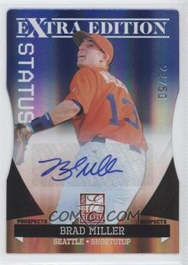 2011 Donruss Elite Extra Edition Prospects Blue Die-Cut Status Signatures [Autographed] #15 - Brad Miller /50