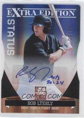 2011 Donruss Elite Extra Edition Prospects Blue Die-Cut Status Signatures [Autographed] #190 - Rob Lyerly /50