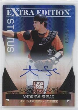 2011 Donruss Elite Extra Edition Prospects Blue Die-Cut Status Signatures [Autographed] #89 - Andrew Susac /50