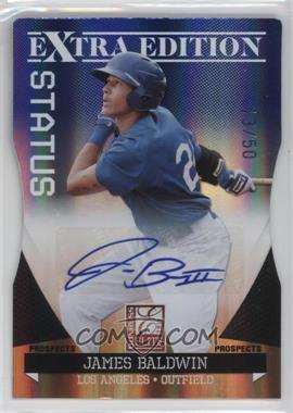 2011 Donruss Elite Extra Edition Prospects Blue Die-Cut Status Signatures [Autographed] #95 - James Baldwin /50