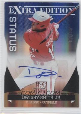 2011 Donruss Elite Extra Edition Prospects Blue Die-Cut Status Signatures [Autographed] #98 - Dwight Smith Jr. /50