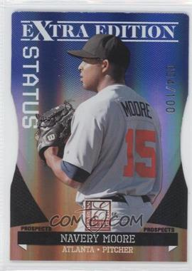 2011 Donruss Elite Extra Edition Prospects Blue Status Die-Cut #90 - Navery Moore /100