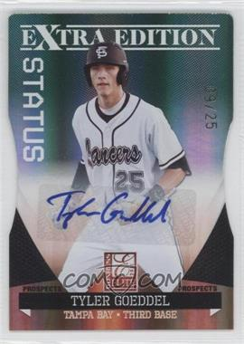 2011 Donruss Elite Extra Edition Prospects Emerald Status Die-Cut Signatures [Autographed] #1 - Tyler Goeddel /25
