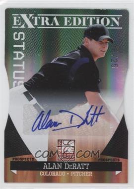 2011 Donruss Elite Extra Edition Prospects Emerald Status Die-Cut Signatures [Autographed] #166 - Alan DeRatt /25