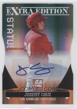 2011 Donruss Elite Extra Edition Prospects Emerald Status Die-Cut Signatures [Autographed] #172 - Jeremy Cruz /25