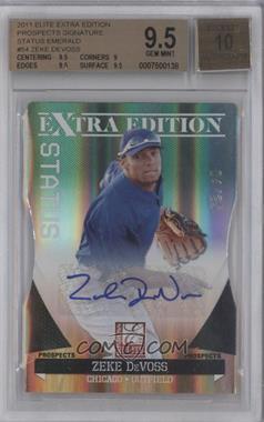 2011 Donruss Elite Extra Edition Prospects Emerald Status Die-Cut Signatures [Autographed] #54 - Zeke DeVoss /25 [BGS9.5]