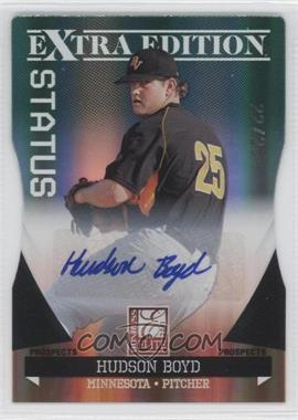 2011 Donruss Elite Extra Edition Prospects Emerald Status Die-Cut Signatures [Autographed] #57 - Hudson Boyd /25
