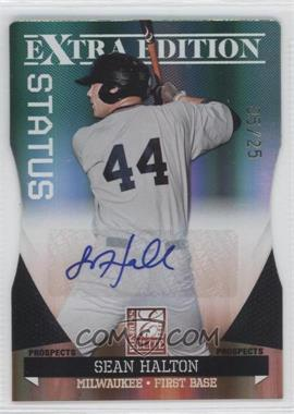 2011 Donruss Elite Extra Edition Prospects Emerald Status Die-Cut Signatures [Autographed] #66 - Sean Halton /25