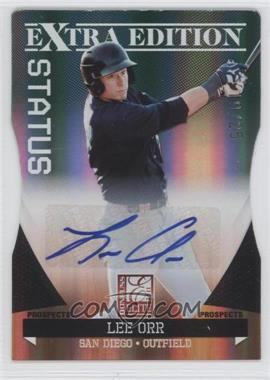 2011 Donruss Elite Extra Edition Prospects Emerald Status Die-Cut Signatures [Autographed] #85 - Lee Orr /25