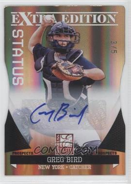2011 Donruss Elite Extra Edition Prospects Gold Status Die-Cut Signatures [Autographed] #99 - Greg Bird /5