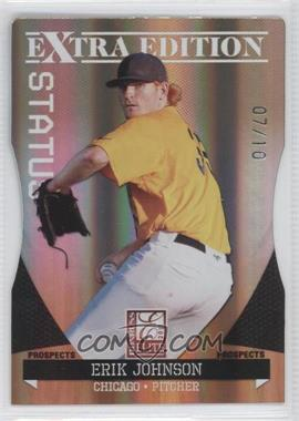 2011 Donruss Elite Extra Edition Prospects Gold Status Die-Cut #19 - Erik Johnson /10
