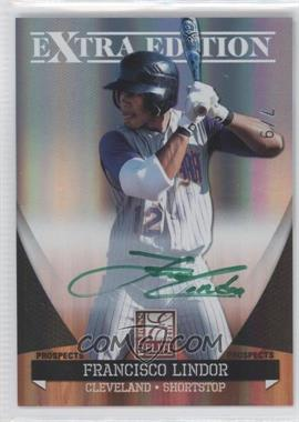 2011 Donruss Elite Extra Edition Prospects Green Ink Signatures [Autographed] #P-39 - Francisco Lindor /10