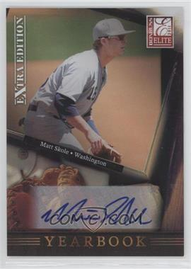 2011 Donruss Elite Extra Edition Yearbook Signatures [Autographed] #17 - Matt Skole /899