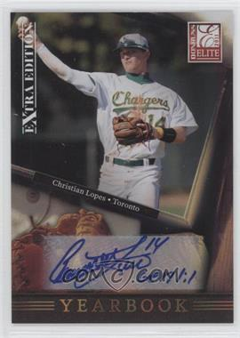 2011 Donruss Elite Extra Edition Yearbook Signatures [Autographed] #2 - Christian Lopes /199