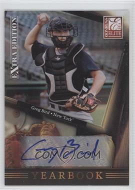 2011 Donruss Elite Extra Edition Yearbook Signatures [Autographed] #6 - Greg Bird /210