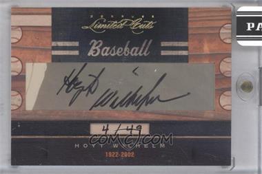 2011 Donruss Limited Cuts Cut Signatures - [Base] - [Autographed] #173 - Hoyt Wilhelm /49