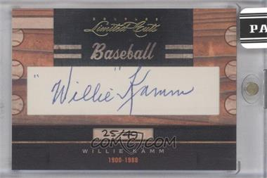 2011 Donruss Limited Cuts Cut Signatures - [Base] - [Autographed] #343 - Willie Kamm /49