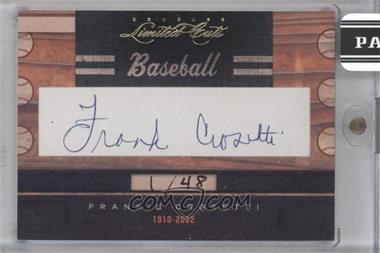 2011 Donruss Limited Cuts Cut Signatures [Autographed] #122 - Frankie Crosetti /48
