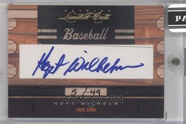 2011 Donruss Limited Cuts Cut Signatures [Autographed] #173 - Hoyt Wilhelm /49