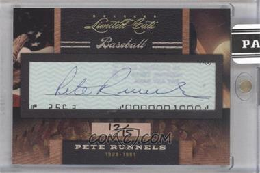 2011 Donruss Limited Cuts Cut Signatures [Autographed] #255.1 - Pete Runnels /15
