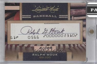 2011 Donruss Limited Cuts Cut Signatures [Autographed] #260 - Ralph Houk /49