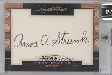 2011 Donruss Limited Cuts Cut Signatures [Autographed] #7.2 - Amos Strunk /49