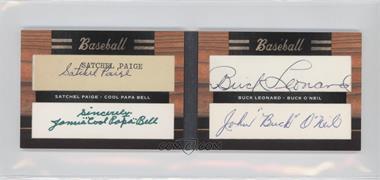 "2011 Donruss Limited Cuts Quad Autographs #3 - Satchel Paige, James ""Cool Papa"" Bell, Buck Leonard, John ""Buck"" O'Neil /1"