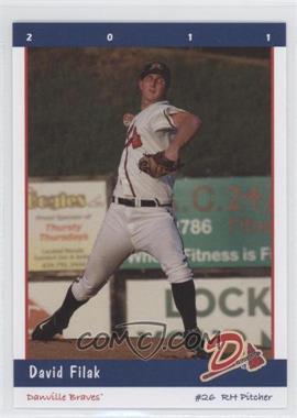 2011 Grandstand Danville Braves #N/A - David Filak