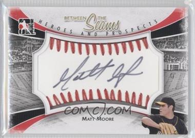 2011 In the Game Heroes and Prospects - Between the Seams - Red Stitch [Autographed] #BTS-MM - Matt Moore /30