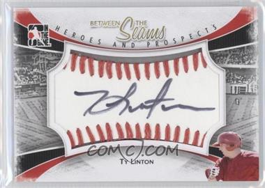 2011 In the Game Heroes and Prospects - Between the Seams - Red Stitch [Autographed] #BTS-TL - Ty Linton /30