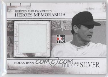 2011 In the Game Heroes and Prospects - Heroes Memorabilia Jersey - Silver #HM-10 - Nolan Ryan /160