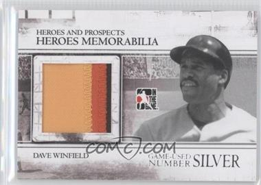 2011 In the Game Heroes and Prospects - Heroes Memorabilia Number - Silver #HM-17 - Dave Winfield /4