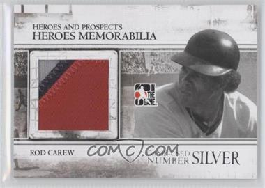 2011 In the Game Heroes and Prospects - Heroes Memorabilia Number - Silver #HM-25 - Rod Carew /4