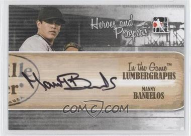2011 In the Game Heroes and Prospects - Lumbergraphs - [Autographed] #L-MB - Manny Banuelos /100