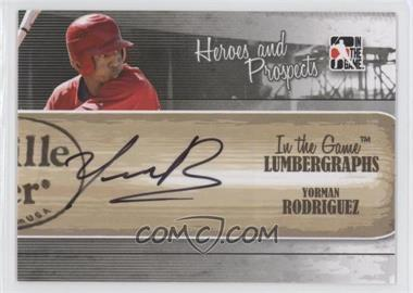 2011 In the Game Heroes and Prospects - Lumbergraphs - [Autographed] #L-YR - Yorman Rodriguez /100