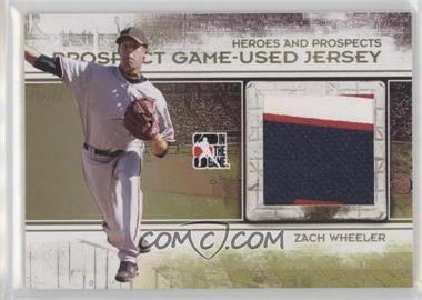 2011 In the Game Heroes and Prospects - Prospect Game-Used Jersey - Gold #PJ-17 - Zach Wheeler /1