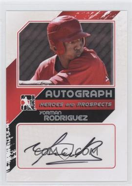 2011 In the Game Heroes and Prospects Autograph Up-Close Silver [Autographed] #A-YR2 - Yorman Rodriguez