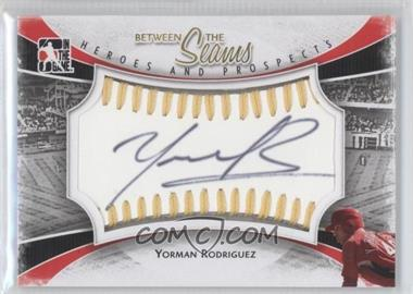 2011 In the Game Heroes and Prospects Between the Seams Gold Stitch [Autographed] #BTS-YR - Yorman Rodriguez /19