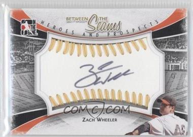 2011 In the Game Heroes and Prospects Between the Seams Gold Stitch [Autographed] #BTS-ZW - Zack Wheeler /19