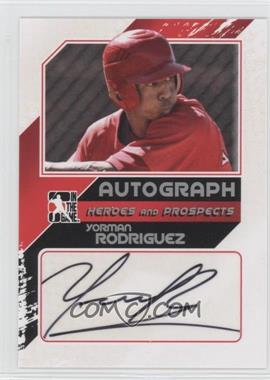2011 In the Game Heroes and Prospects Close Up Autograph Silver #A-YR2 - Yorman Rodriguez /190