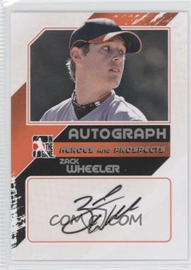 2011 In the Game Heroes and Prospects Close Up Autograph Silver #A-ZW2 - Zack Wheeler /190